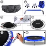 Serenelife-36-Portable-Foldable-Trampoline-In-Home-Mini-Rebounder-with-HandrailSpace-Saver-Fitness-Body-Exercise-SLSPT369-0-2