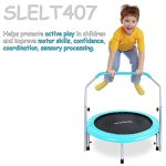 Serenelife-Portable-Foldable-Trampoline-40-dia-Springfree-Rebounder-Jumping-Mat-Safe-for-Kid-w-Padded-Frame-Cover-and-Adjustable-Handlebar-and-Carry-Bag-0-1