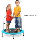 Serenelife-Portable-Foldable-Trampoline-40-dia-Springfree-Rebounder-Jumping-Mat-Safe-for-Kid-w-Padded-Frame-Cover-and-Adjustable-Handlebar-and-Carry-Bag-0-2