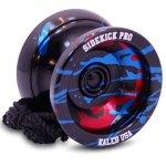 Sidekick-Yoyo-Pro-Black-Red-Blue-Splashes-Professional-Aluminum-UNresponsive-YoYo-0-2