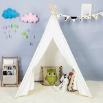 Steegic-Outdoor-and-Indoor-Great-Canvas-Indian-Teepee-Playhouse-for-Kids-White-0-0