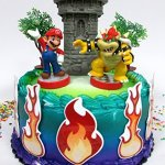 Super-Mario-Brothers-Mario-Versus-Bowser-Castle-Themed-Birthday-Cake-Topper-Set-0
