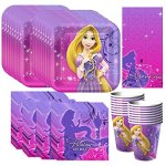 Tangled-Sparkle-Party-Supplies-Pack-Including-Plates-Cups-Napkins-and-Tablecover-16-Guests-0