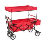 The-Best-Feature-Quality-NEW-4th-GENERATION-Collapsible-Folding-Wagon-with-Canopy-Padded-Bottom-Auto-Safety-Locks-Spring-Bounce-Brake-Stand-EVA-Wide-Tire-0