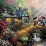 Thomas-Kinkade-The-Disney-Collection-4-in-1-Multi-Pack-500-Pieces-Each-Puzzle-Sleeping-Beauty-Mickey-Minnie-Mouse-Snow-White-Seven-Dwarfs-and-Cinderella-0-0