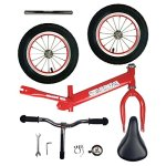 Toddler-Balance-Bike-12-Air-Inflated-Tires-Glider-bike-for-Kids-2-5-Years-Old-by-Zebrum-Quick-Adjust-Padded-Seat-No-Pedals-Red-0-1