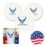 US-Air-Force-Party-Pack-16-guests-cake-plates-napkins-cups-plus-balloon-0