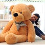 Vercart-4-Foot-47-Light-Brown-Giant-Huge-Cuddly-Stuffed-Animals-Plush-Teddy-Bear-Toy-Doll-0