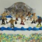 WWE-Wrestler-Rumblers-Wrestling-Birthday-Cake-Topper-Set-Featuring-8-RANDOM-WWE-Rumbler-Figures-and-Unique-Wrestling-Championship-Belt-Cake-Decorative-Piece-0
