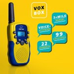 Walkie-Talkies-for-Kids-with-Kids-Binoculars-Set-Vox-Box-Voice-Activated-Kids-Walkie-Talkies-Long-Range-Radios-with-3-Mile-Range-and-6×21-Binoculars-for-Kids-with-Carry-Case-0-0
