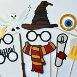 Wizard-Photo-Booth-Props-17-Pieces-Includes-Magic-Wands-Snow-Owl-Scarves-and-more-0