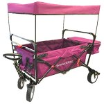 WonderFold-Outdoor-Value-Model-Collapsible-Folding-Wagon-with-Canopy-180-Degree-Steering-Telescoping-Handle-0