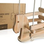 Wooden-Horse-Swing-Set-for-Toddlers-Smooth-Birch-Wood-with-Natural-Cotton-Ropes-Outdoor-Indoor-Swing-Eco-Conscious-Toddler-Bucket-Swing-Chair-For-Baby-6-Months-to-3-Years-Old-by-EcoTribe-0-1