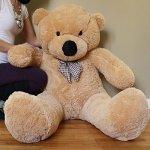 Yesbears-Giant-Teddy-Bear-5-Feet-Tan-Color-Ultra-Soft-0-1