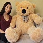 Yesbears-Giant-Teddy-Bear-5-Feet-Tan-Color-Ultra-Soft-0