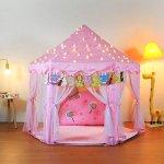 Yoobe-Hexagon-Princess-Castle-Play-Tent-Indoor-for-Kids-Gift-0