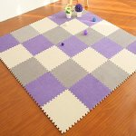yazi-EVA-Foam-Anti-Slip-Foam-Puzzle-Floor-Play-Mat-Kids-Multicolored-Shapes-Puzzle-Play-Mat-Purple-Color-Set-of-9Each-tile-is-1-sqft-12-x-12-x-043-0