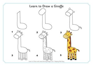 giraffe draw animals learn easy drawing animal zoo drawings practice african very activityvillage hippo teaching learning giraffes lesson explore hippos