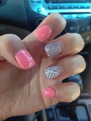 cool and simple acrylic nail