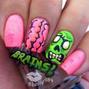 scary zombie nail art