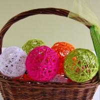 Fonal labdák készítése textilkeményítővel
