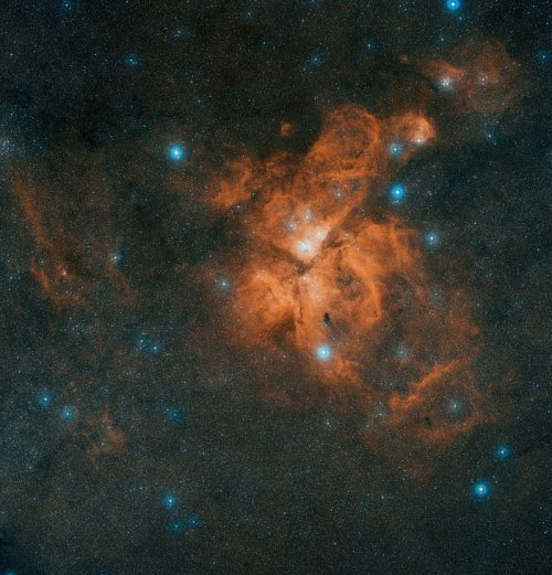 This image is a colour composite made from exposures from the Digitized Sky Survey 2 (DSS2). The field of view is approximately 4.7 x 4.9 degrees.