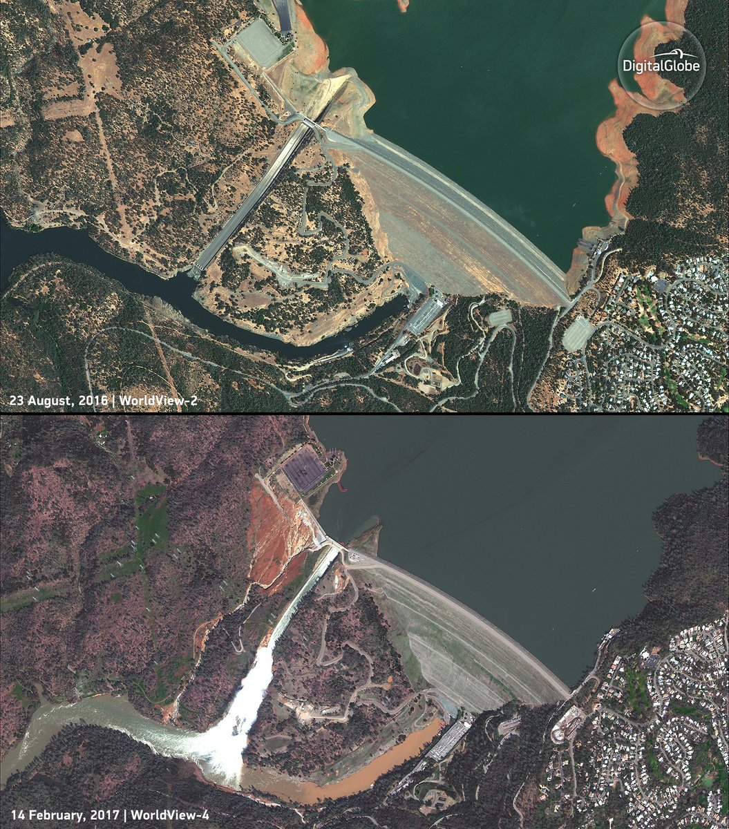 Space-for-All at HobbySpace » Satellite images of the Oroville dam