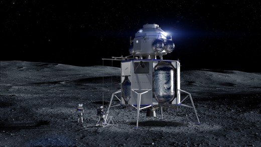 Blue Moon with Ascent Vehicle