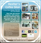 Heather's Coffee Shop leaflet (pp 2 & 3)