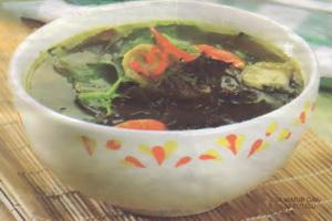 resep-sup-jamur-dan-bayam-bumbu-kuning