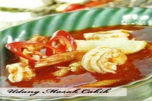 Resep Udang Masak Cabik (Bangka Belitung)