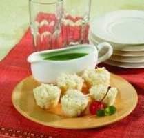 Resep Mangkuk Singkong Saus Pandan