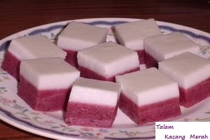 Resep Talam Kacang Merah