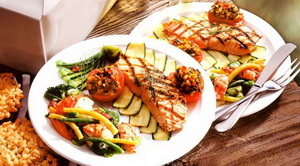 Resep Grill Salmon Fillet With Vegetables
