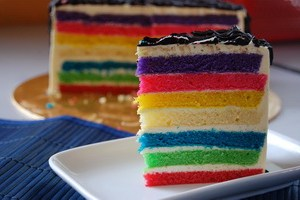 Resep Rainbow Cotton Cake