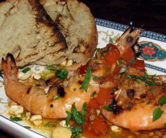 resep-tiger-prawn-steam-in-beer-with-hollandise-sauce-and-gramill-asparagus
