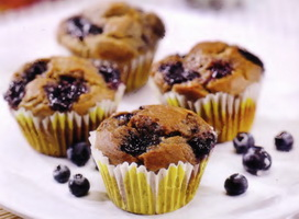 resep-muffin-pisang-blueberry