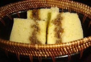 Resep Bolu Kukus Lapis Daging / Cornet