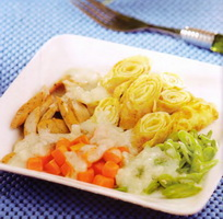 Resep Dadar Ragout Sayuran