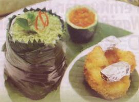 Resep Nasi Bakar Hijau With Tempura
