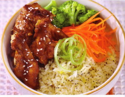 Resep Black Pepper Rice With Chicken Teriyaki