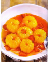 Resep Orange With Strawberry Coulis