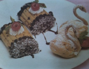 resep-choux-roll-and-chocolate-pudding-with-mango-sauce