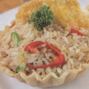 Resep Singapore Rice In Cup With Chicken Tempura