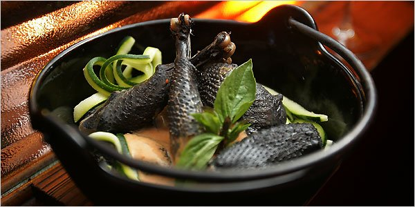 Although ayam cemani meat has a scary appearance, it tastes and smells good, moreover when it coked into a soup.