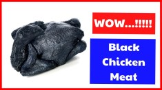 Black Chicken Meat - The Delicious Meat Which Is Very Difficult To Find
