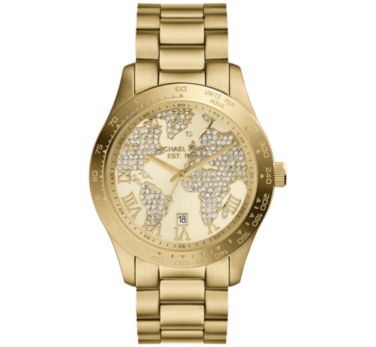 best travel wear watch michael kors world map