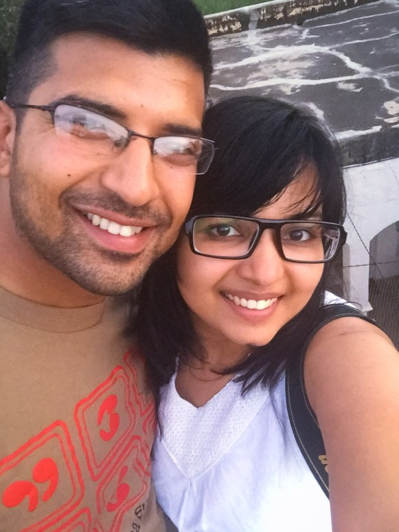 a couple take a selfie at piramal haveli on their weekend getaway from delhi