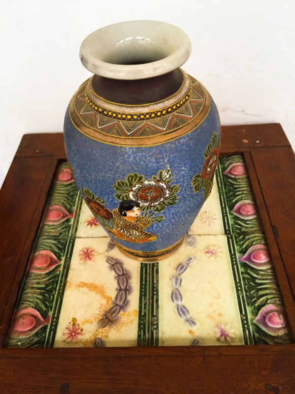 antique vase at piramal haveli bagar rajasthan