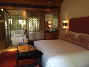 Image of the interiors of rooms in alila Diwa Goa
